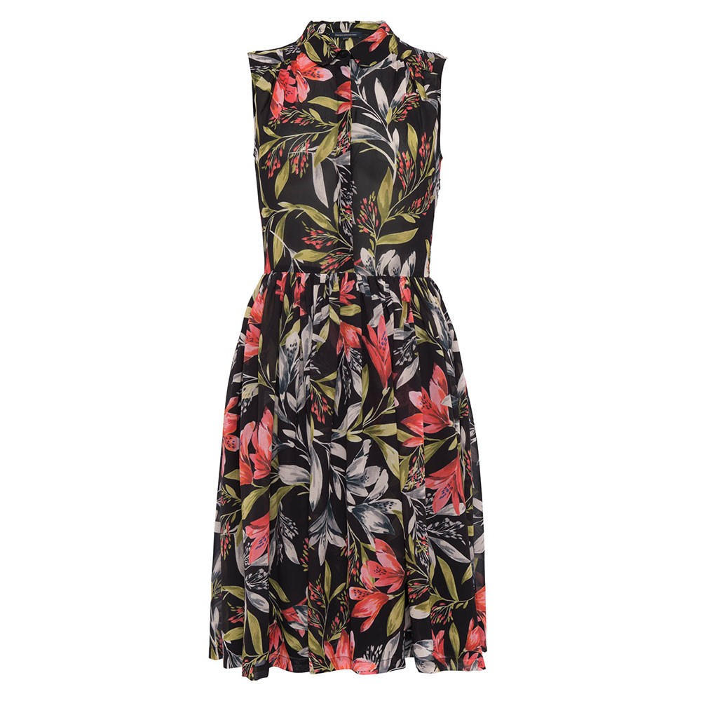 Cadencia Drape Floral Shirt Dress main image