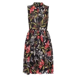 Cadencia Drape Floral Shirt Dress