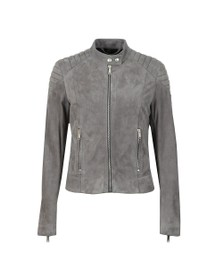 Belstaff Womens Grey Mollison Suede Jacket