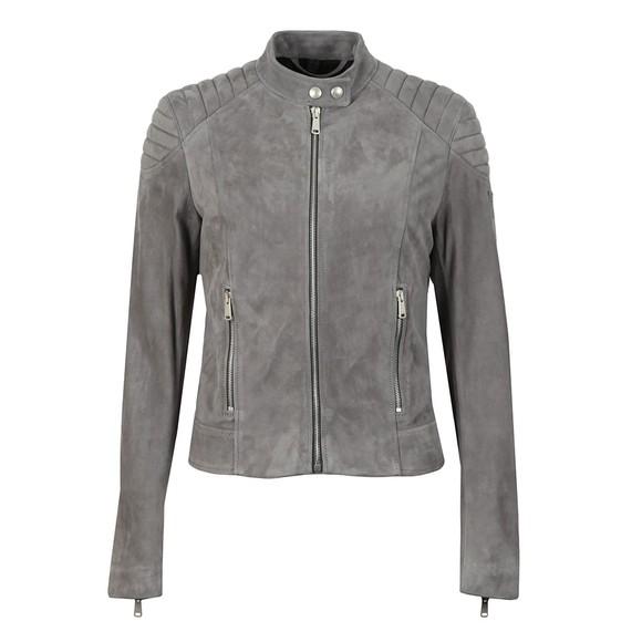 Belstaff Womens Blue Mollison Suede Jacket