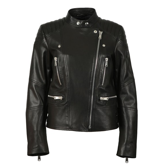 Belstaff Womens Black Sidney 3.0 Leather Jacket