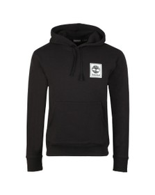 Timberland Mens Black Stack Logo Hoody