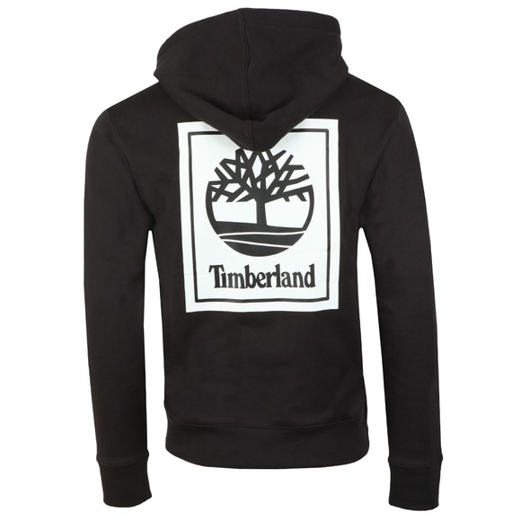 Timberland Mens Black Stack Logo Hoody main image
