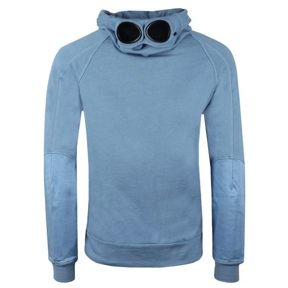 C.P. Company Mens Blue Overhead Goggle Hoody main image