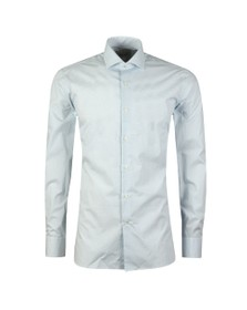 Ted Baker Mens Blue Micro Geo Endurance Shirt