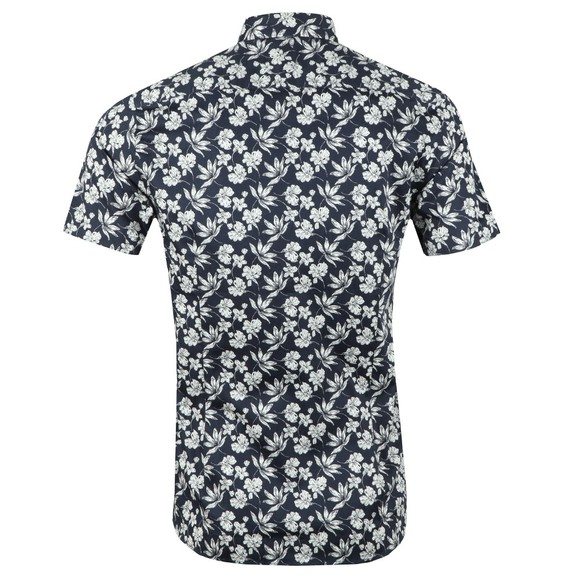 Ted Baker Mens Blue S/S Statement Print Shirt main image