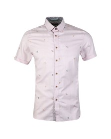 Ted Baker Mens Pink S/S Fil Coupe Shirt