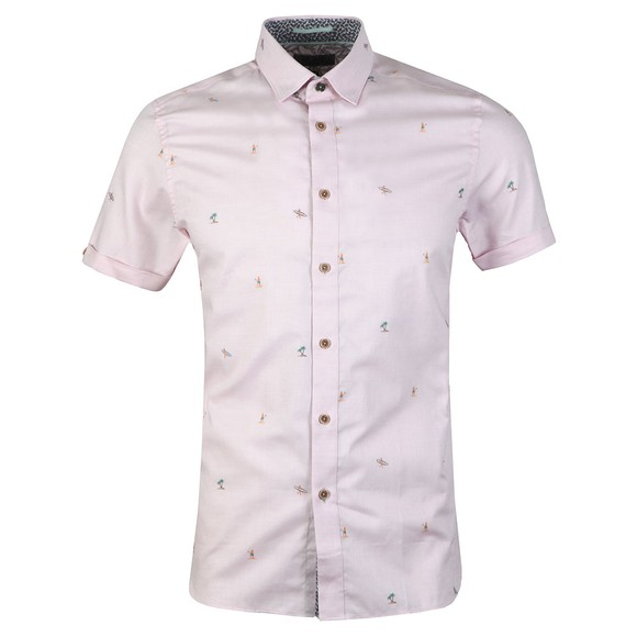 Ted Baker Mens Pink S/S Fil Coupe Shirt main image