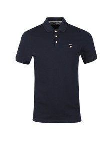 Ted Baker Mens Blue Vardy Textured Polo