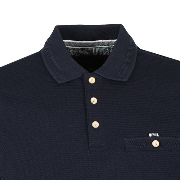 Ted Baker Mens Blue Vardy Textured Polo main image