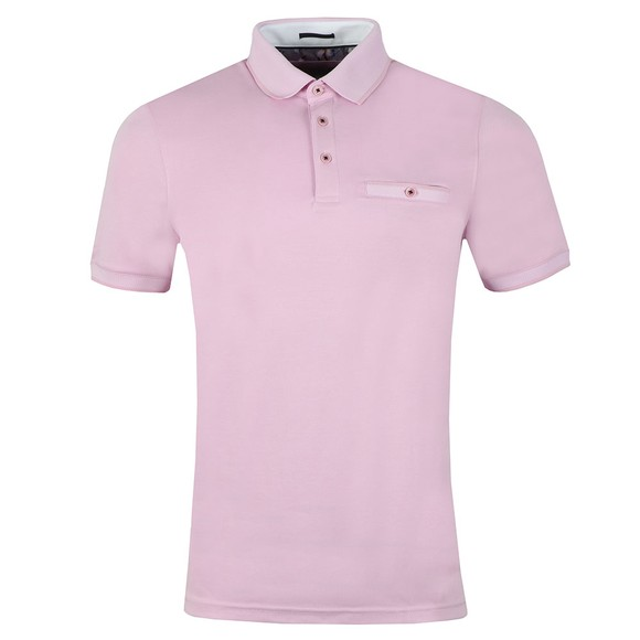 Ted Baker Mens Pink Frog Polynosic Polo main image