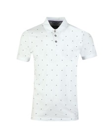 Ted Baker Mens White Tuka Palm Tree Printed Polo