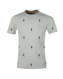 Ted Baker Mens Grey Vipa Embroidery Tee