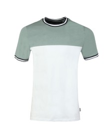 Ted Baker Mens Green Silva Paneled Tee