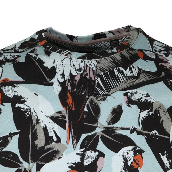 Ted Baker Mens Blue Parrot Print Tee main image