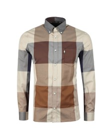 Aquascutum Mens Brown Henlake Giant Club Check Long Sleeve Shirt