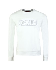 HUGO Mens White Dicago Sweatshirt