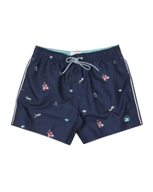 Ted Baker Mens Blue Diver Print Swim Short