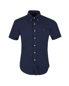 Polo Ralph Lauren Mens Blue Slim Fit Featherweight Twill SS Shirt