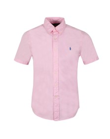 Polo Ralph Lauren Mens Pink Slim Fit Featherweight Twill SS Shirt