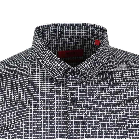 HUGO Mens Blue Extra Slim Fit Empson Shirt