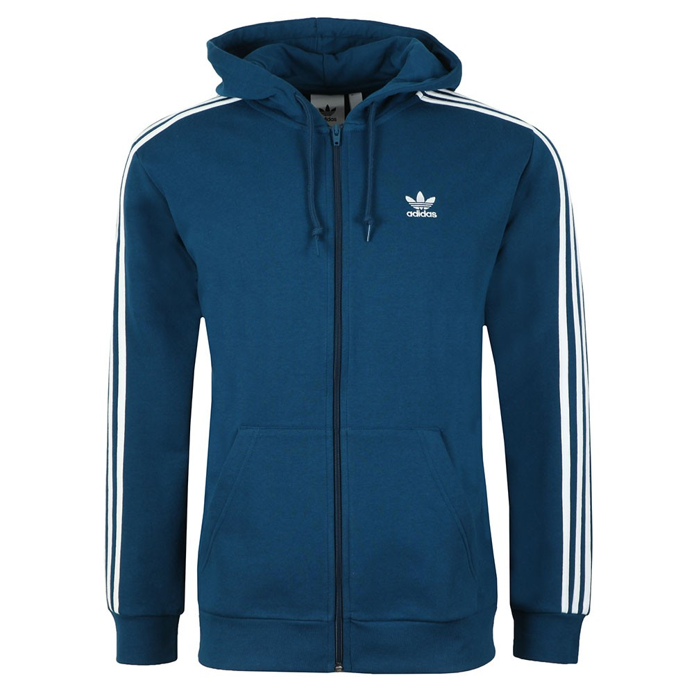 Mens Blue 3 Stripes Hoodie