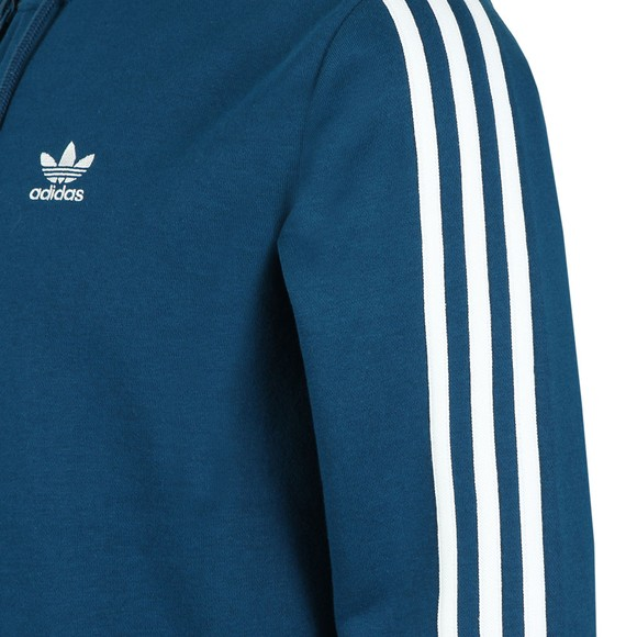 adidas Originals Mens Blue 3 Stripes Hoodie main image