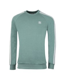 adidas Originals Mens Green 3 Stripes Sweat