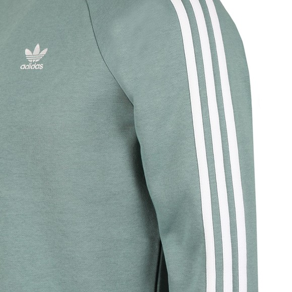 adidas Originals Mens Green 3 Stripes Sweatshirt main image