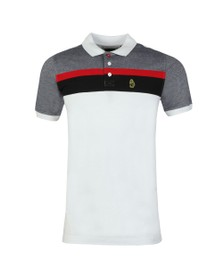 Luke 1977 Mens White Grayson Polo Shirt