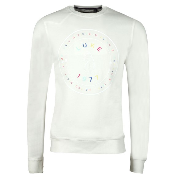 Luke 1977 Mens Off-White Big Day Out Print Detail Sweatshirt main image
