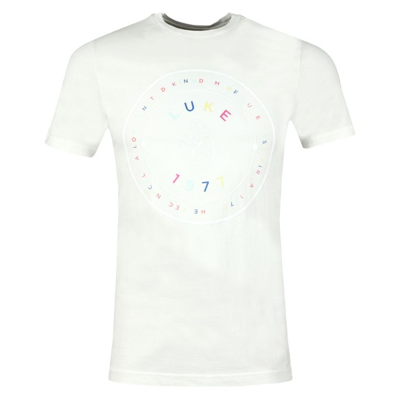 Luke 1977 Mens Off-White Saturday Scoops Printed T-Shirt main image