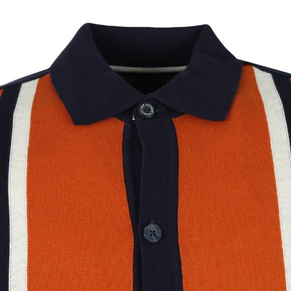 Ben Sherman Mens Blue Button Through Mod Polo main image