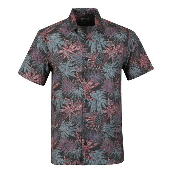 Ben Sherman Mens Black S/S Tropical Paisley Shirt main image