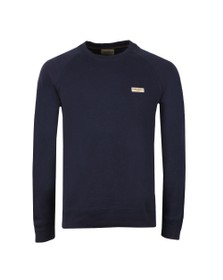 Nudie Jeans Mens Blue Samuel Logo Sweatshirt