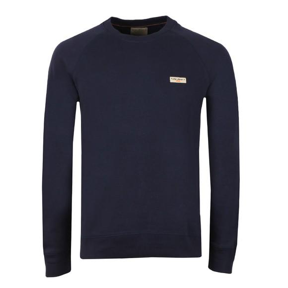 Nudie Jeans Mens Blue Samuel Logo Sweatshirt main image