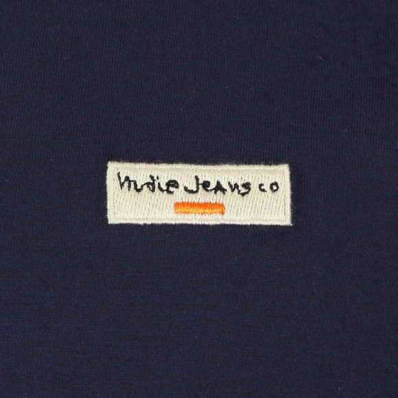 Nudie Jeans Mens Black Daniel Logo T Shirt main image
