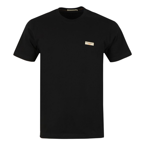 Nudie Jeans Mens Black Daniel Logo T Shirt main image