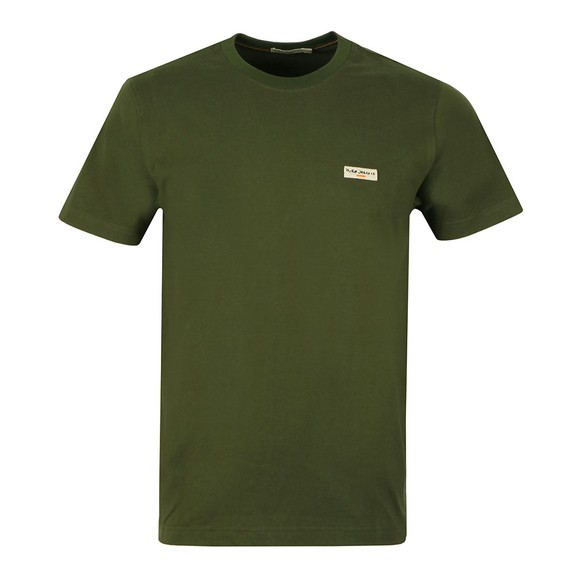 Nudie Jeans Mens Green Daniel Logo T Shirt main image