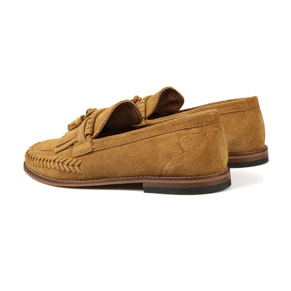 H By Hudson Mens Brown Alloa Suede Loafer main image