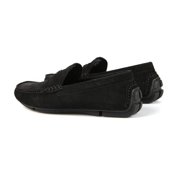 Emporio Armani Mens Black Logo Driver Shoe main image