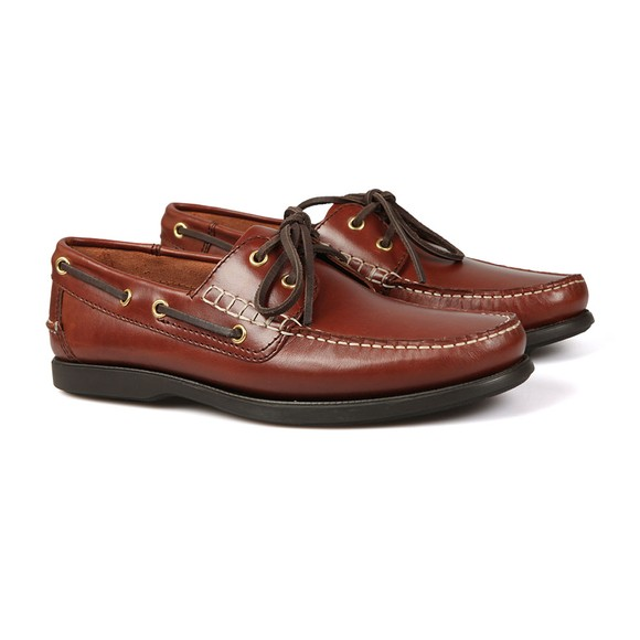 Barker Mens Brown Wallis Boat Shoe main image