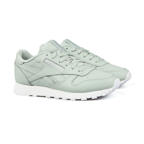 Reebok Womens Green Leather Trainer
