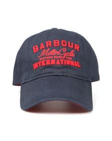 Barbour International Mens Blue Grange Logo Sports Cap