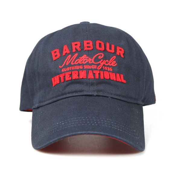 Barbour International Mens Blue Grange Logo Sports Cap main image