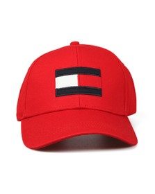 Tommy Hilfiger Mens Red Big Flag Cap
