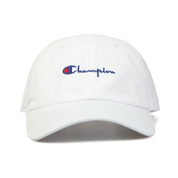 Champion Unisex White Small Script Logo Cap main image