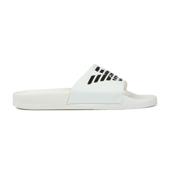 Emporio Armani Mens White Eagle Logo Slides main image