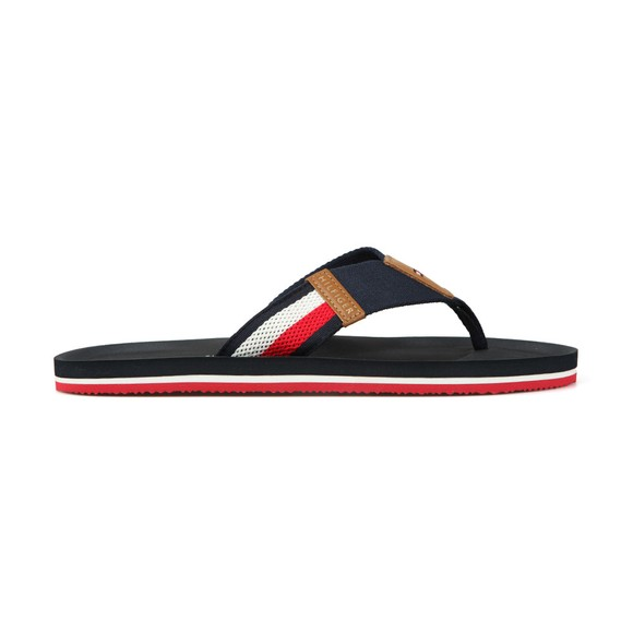 Tommy Hilfiger Mens Blue Corporate Stripe Beach Sandal main image