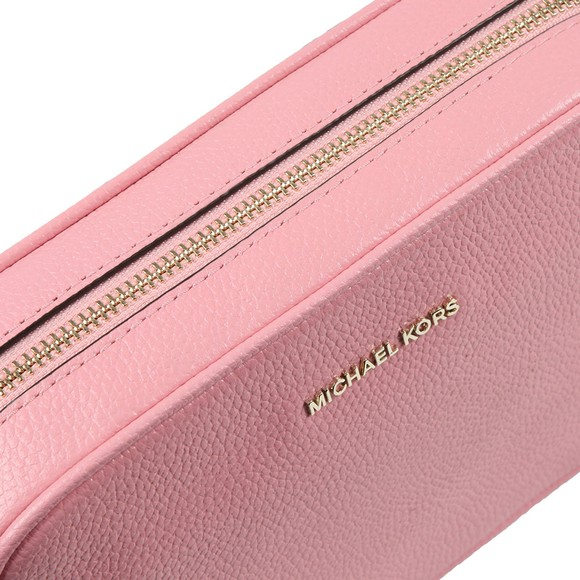 Michael Kors Womens Pink Ginny Medium Pebbled Leather Crossbody main image